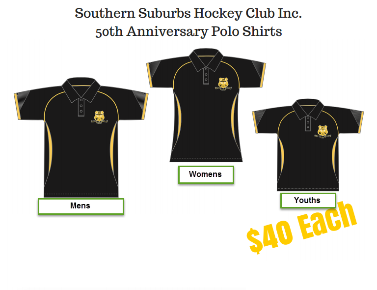 318a1bc2 Order your club 50th Anniversary / Walk-out Shirt for the 2015/2016 Season  Today - contact Sharon email southernsuburbshockeyclub@gmail.com or comment  on ...